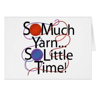 Yarn Time Greeting Card