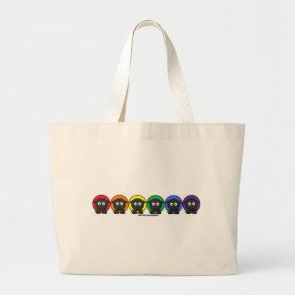 Yarnoholics Anonymous Fluffy Rainbow Sheep Large Tote Bag