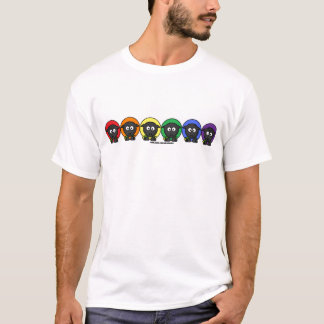 Yarnoholics Anonymous Fluffy Rainbow Sheep T-Shirt