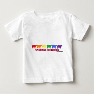 Yarnoholics Anonymous Rainbow Sheep Baby T-Shirt