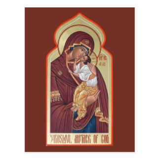 Yaroslavl Mother of God Prayer Card Postcard