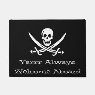 Yarrr Always Welcome Abouard Pirate Doormat