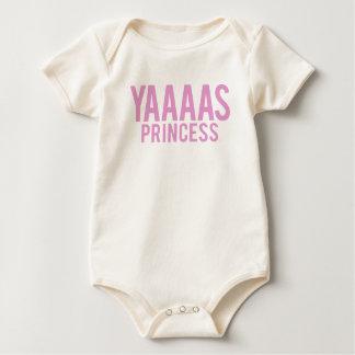 Yas Princess Print Baby Bodysuit