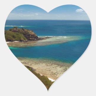 yasawa islands fiji heart sticker
