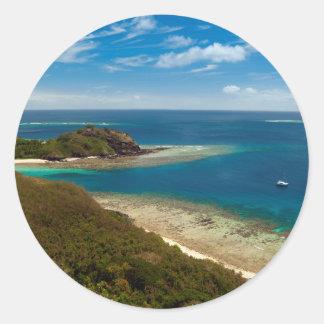 yasawa islands fiji round sticker