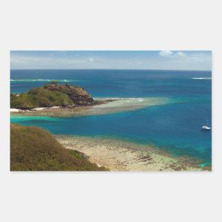 yasawa islands fiji rectangle stickers