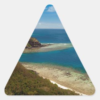 yasawa islands fiji triangle sticker