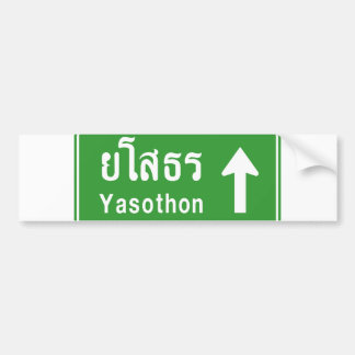 Yasothon Ahead ⚠ Thai Highway Traffic Sign ⚠ Bumper Sticker