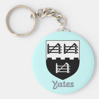 Yates Family Shield Keychain