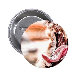 Yawn 6 Cm Round Badge