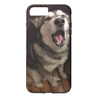 Yawning Alaskan Malamute Photograph iPhone 7 Plus Case