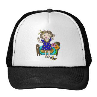 Yawning Bedtime Girl Mesh Hat