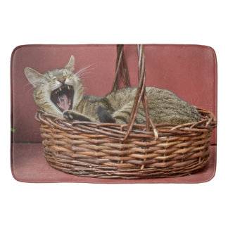 Yawning Kitty Bath Mat