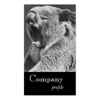 Yawning Koala Pack Of Standard Business Cards