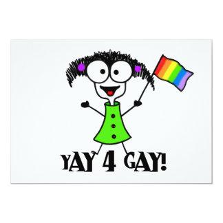 Yay 4 Gay Pride Invitations