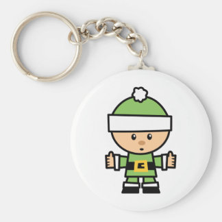 Yay For Color Xmas Character - Elf Basic Round Button Key Ring