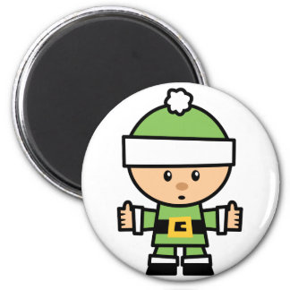 Yay For Color Xmas Character - Elf Magnet