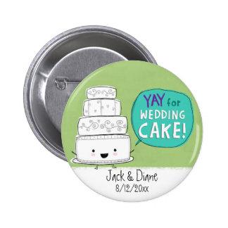 YAY for Wedding Cake Customizable Pins