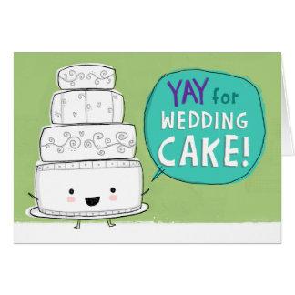 YAY for Wedding Cake Customizable Greeting Card