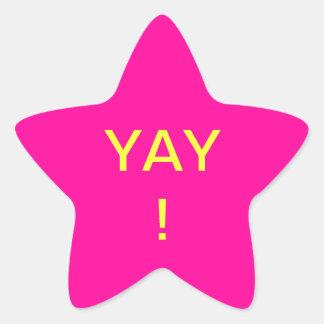Yay! Star Sticker