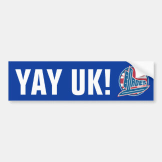 Yay UK Blades Car Bumper Sticker