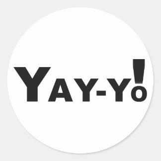 Yay-Yo! Round Sticker