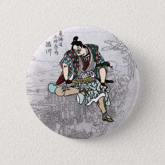 YBsamurai can batsuji 6 Cm Round Badge