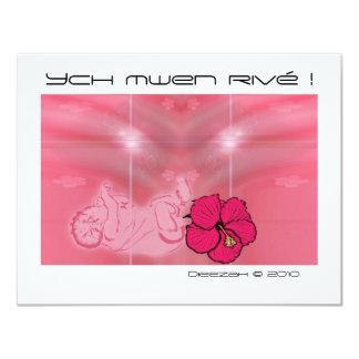 Ych mwen rivetted! 11 cm x 14 cm invitation card