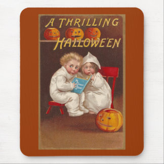 Ye Ghost Story Scares Kids Vintage Halloween Mouse Pad