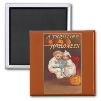 Ye Ghost Story Scares Kids Vintage Halloween Square Magnet