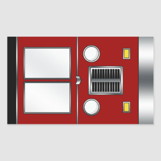 Ye Old Bus (Customizable color) Rectangle Stickers