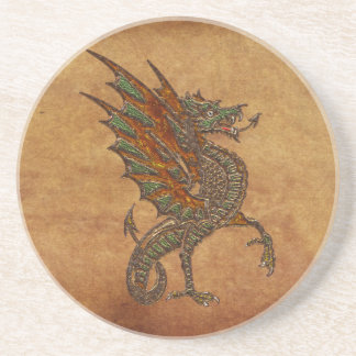 Ye Old Medieval Dragon Design Coaster