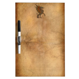 Ye Old Medieval Dragon Design Dry Erase Board