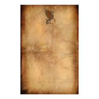 Ye Old Medieval Dragon Design Stationery