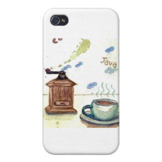 Ye Olde Coffee Grinder - Coffee Folk Art iPhone 4/4S Cases
