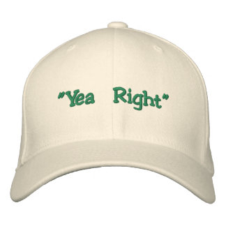 """""""Yea Right"""" Edward McGee Flex-Fit Hat Embroidered Baseball Caps"""
