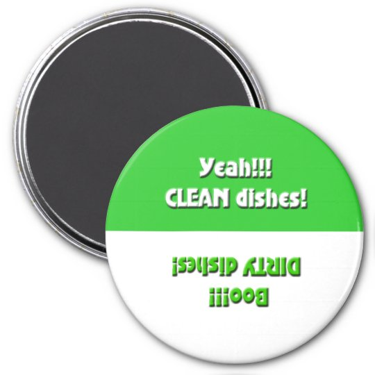 Yeah Clean/Boo Dirty- Green Dishwasher Magnet