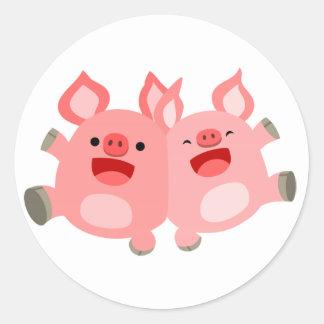 YEAH!! Cute Cartoon Pigs Sticker