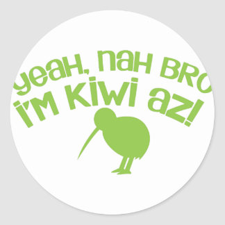 Yeah nah Bro Bro I'm kiwi Sticker