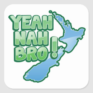 Yeah nah BRO New Zealand KIWI  Auckland design Sticker