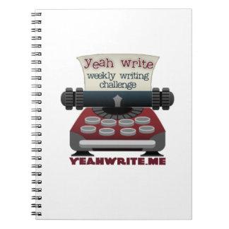 yeah write spiral-bound notebook