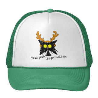 """Yeah Yeah...Happy Holidays"" Hats"
