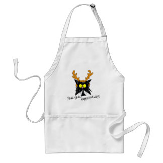"""Yeah Yeah...Happy Holidays"" Standard Apron"