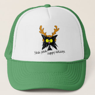 """Yeah Yeah...Happy Holidays"" Trucker Hat"