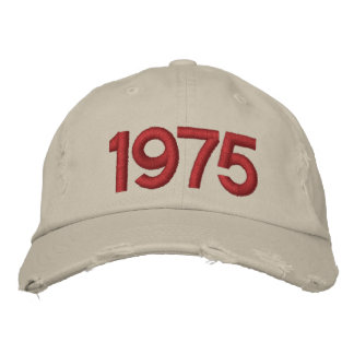 Year 1975 embroidered baseball cap