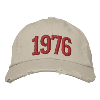 Year 1976 embroidered cap
