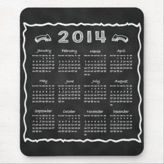 Year 2014 Blackboard Calendar Mouse Pads