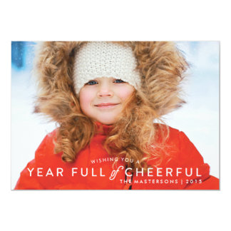 Year Full of Cheerful One-Photo Holiday Card