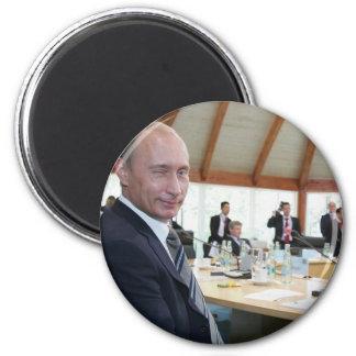 Year In Focus 2007 News Putin 6 Cm Round Magnet