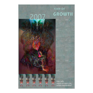 Year of growth 2007 poster calendar by Anjo Lafin